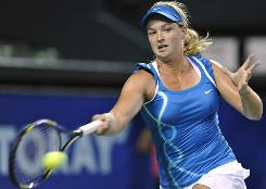 Coco Vandeweghe, here playing a shot during the Pan Pacific Open in September, was chosen to open the Fed Cup final in a singles match against Francesca Schiavone.
