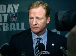 NFL commissioner Roger Goodell said Monday he won't allow players to contribute to the disciplinary process