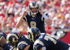 Sam Bradford and the Rams  a franchise that won six games combined in the past three seasons  were 4-4 and in first place of the NFC West at midseason.