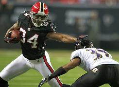 Roddy White and the Falcons improved to an NFL-best 7-2 with a win against Baltimore on Thursday.