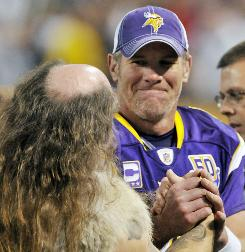 Brett Favre and the Vikings went 3-5 during the first half of their season.