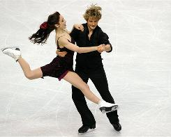 Americans Meryl Davis and Charlie White compete in the free dance at Skate America in Portland, Ore., on Nov. 14.