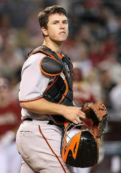 Called up in June, Buster Posey is the NL's top rookie.
