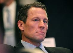 Lance Armstrong attended former president Bill Clinton's Clinton Global Initiative in September in New York City.