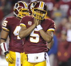 "Donovan McNabb said he was ""embarrassed"" by the Redskins' loss to the Eagles on Monday night."