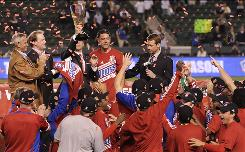 FC Dallas players celebrate Sunday's win against the Galaxy in the MLS Western Conference Final match. FC Dallas' path to the championship game could be different in 2011 if the league adopts a new playoff format.