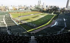 Northwestern and Illinois will face off Saturday at Chicago's Wrigley Field, which has a long history of hosting football games.