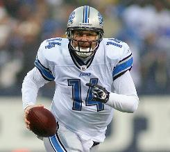 Lions QB Shaun Hill has been pressed into service this season because of injuries to Matthew Stafford