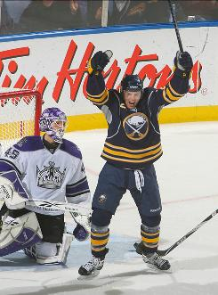 Buffalo's Thomas Vanek had a goal and an assist in the Sabres' 4-2 win over the Los Angeles Kings.
