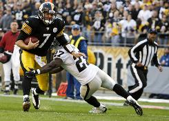 Ben Roethlisberger and the Steelers improved to 7-3 after a win against the Steelers on Sunday.