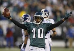 The Eagles have streaked to first place in the NFC East with major contributions from young players such as WR DeSean Jackson.