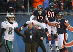 The Bears improved to 8-3 with a win against the Eagles on Sunday.