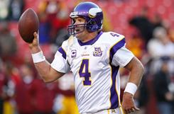 Vikings quarterback Brett Favre has been the target of criticism from several TV pundits over the course of the season.