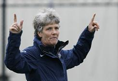 U.S. women's national team coach Pia Sundhage will face her former team, Sweden, in next summer's World Cup.