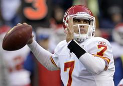 Matt Cassel and the Chiefs lead the AFC West at 7-4.