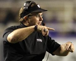 Gary Patterson has coached TCU to a 12-0 record and Mountain West title. If either Auburn or Oregon falter in Saturday's games, the Horned Frogs would earn a slot in the BCS championship game.
