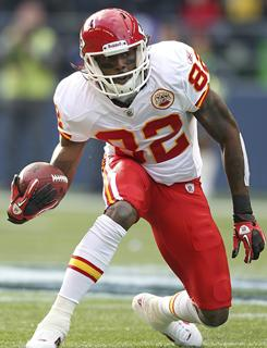 Wide receiver Dwayne Bowe has elevated the Kansas City Chiefs passing game, catching TD passes in seven consecutive games.
