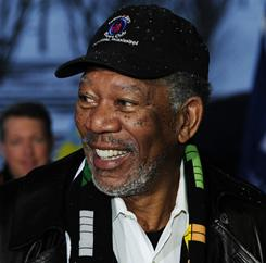 Hollywood star Morgan Freeman is all smiles about the USA's chances of landing the 2022 World Cup.