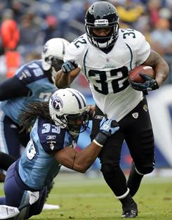 Jaguars running back Maurice Jones-Drew gashed the Titans defense for a career-best 186 yards rushing.