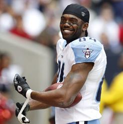 Randy Moss has had a slow start to his tenure with the Titans.