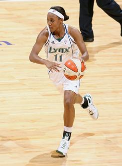 Minnesota Lynx guard Candice Wiggins, who lost her father to AIDS in 1991, credits her mom for growing up in a house of optimism and hope.