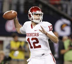 Oklahoma sophomore quarterback Landry Jones threw for 342 yards and a touchdown to help the Sooners edge Nebraska in the Big 12 championship game.