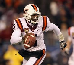 Virginia Tech quarterback Tyrod Taylor threw for 263 yards and three touchdowns to lead the Hokies to victory in the ACC championship.
