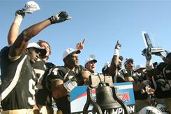 Central Florida players after their defeat of SMU won the Conference USA championship.