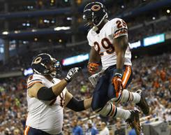 Chester Taylor's TD helped the Bears beat the Lions on Sunday.