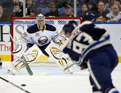 Buffalo Sabres goalie Ryan Miller has recorded back-to-back shutouts since returning from injury.