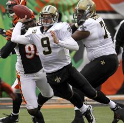 Drew Brees and the Saints improved to 9-3 with a win in Cincinnati on Sunday.