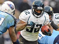 Jaguars running back Maurice Jones-Drew has rushed for at least 100 yards in five consecutive games.