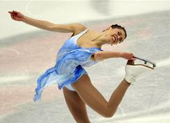Alissa Czisny of the U.S. performs in the ladies free skating program during the Grand Prix in Beijing on Saturday. Czisny was third in the free skate, but managed to take the gold medal at the event.