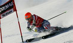 American Ted Ligety wins the giant slalom on Dec. 11 in Val-d'Isere, France.