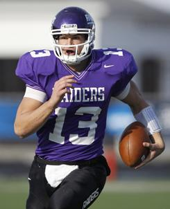 Mount Union quarterback Matt Piloto passed for 335 yards and four touchdowns in Mount Union's 34-14 win over Bethel (Minn.) last week that advanced Mount Union to the NCAA D-III title game.