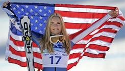 American skier Lindsey Vonn won two medals at the Vancouver Olympics. She received 77 of 175 votes for Female Athlete of the Year.
