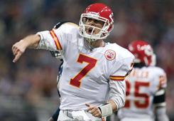 Matt Cassel and the Chiefs defeated the Rams on Sunday.