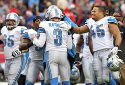 The Lions defeated the Bucs on Sunday.