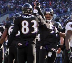 The Ravens defeated the Saints on Sunday.