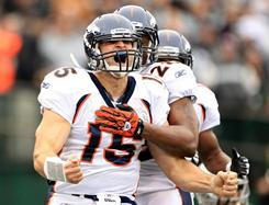 Tim Tebow made his first start for the Broncos on Sunday against the Raiders.