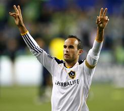 Landon Donovan led Major League Soccer with 16 assists this past season for the Los Angeles Galaxy.