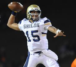Kiehl Frazier of Shiloh Christian High School in Springdale, Ark., was named USA TODAY's All-USA offensive player of the year for 2010.  Frazier threw for 2,975 yards and 42 touchdowns and ran for 1,164 yards and 22 touchdowns this season.