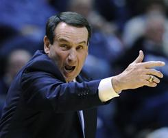 Duke coach Mike Krzyzewski is tied with Dean Smith at 879 career coaching victories, but not for long. Krzyzewski will pass Smith with the next Duke victory, probably Dec. 29 against UNC-Greensboro.