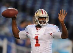 Troy Smith went 3-2 in five starts earlier this season for the 49ers.