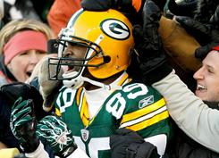 James Jones and the Packers defeated the Giants on Sunday.