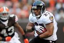 Ray Rice and the Ravens clinched a playoff berth on Sunday.