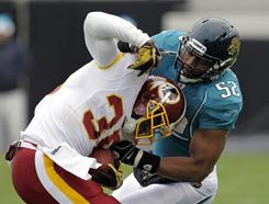Keiland Williams and the Redskins defeated Daryl Smith and the Jaguars on Sunday.