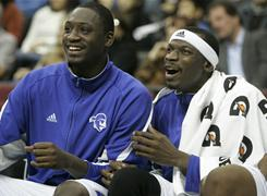 Seton Hall's Jeremy Hazell, right, was shot under his right arm by a mugger on Christmas night.