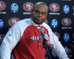 Coach Mike Singletary and the 49ers were still in contention for a playoff berth until Sunday's loss to the Rams.