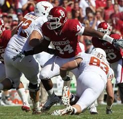 Oklahoma defensive end Jeremy Beal led the team with 8 1/2 sacks during the regular season